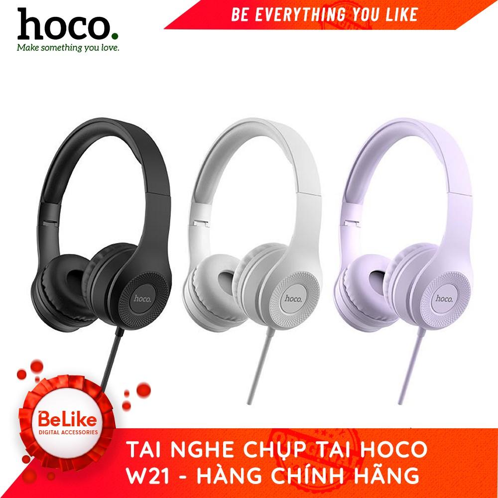 Tai Nghe Chụp Tai  Hoco W21- 3 Màu Tím/Đen/Xám - Hàng Chính Hãng #Belike