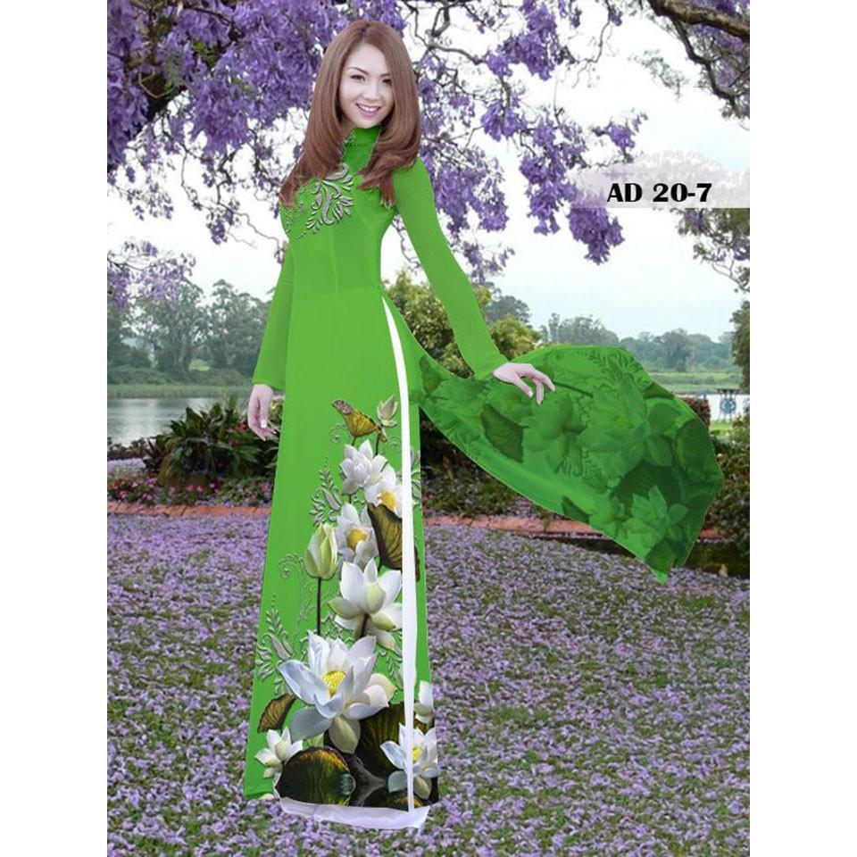 Vải áo dài  hoa sen trắng in 3D 20-07 - 14937365 , 2299169192 , 322_2299169192 , 275000 , Vai-ao-dai-hoa-sen-trang-in-3D-20-07-322_2299169192 , shopee.vn , Vải áo dài  hoa sen trắng in 3D 20-07