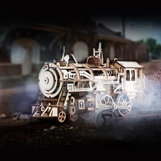 Đồ chơi lắp ráp cơ khí – Đầu máy xe lửa (Locomotive Robotime)