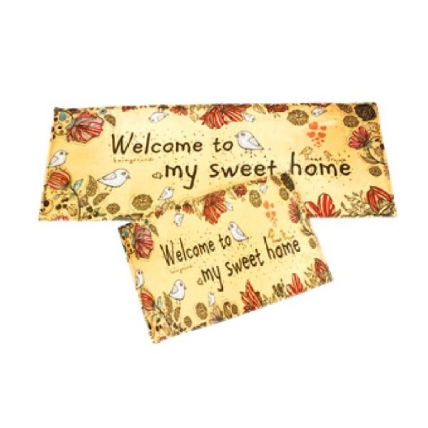 Bộ 2 thảm sàn bếp - Welcome home