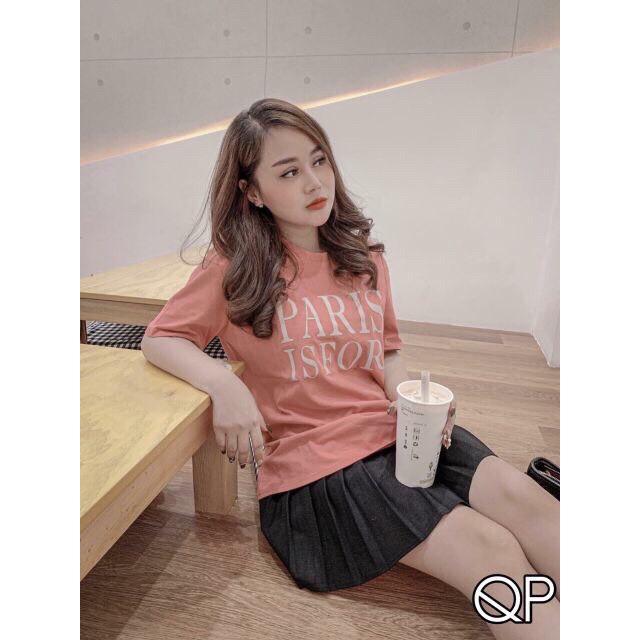 Áo phông nữ màu hồng PR mã A66