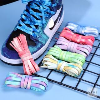 (140CM) Một Cặp - 2 Dây Giày Tie-Dye Loang Màu Cam Cháy Độc Lạ, Phong Cách - Vani Store thumbnail
