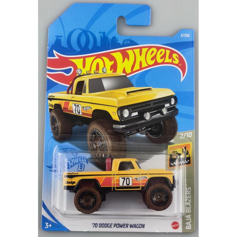 Xe mô hình Hot Wheels '70 Dodge Power Wagon GRX65