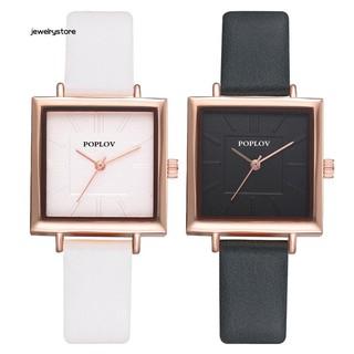 Đồng hồ nữ mặt vuông dây giả da thời trang thumbnail