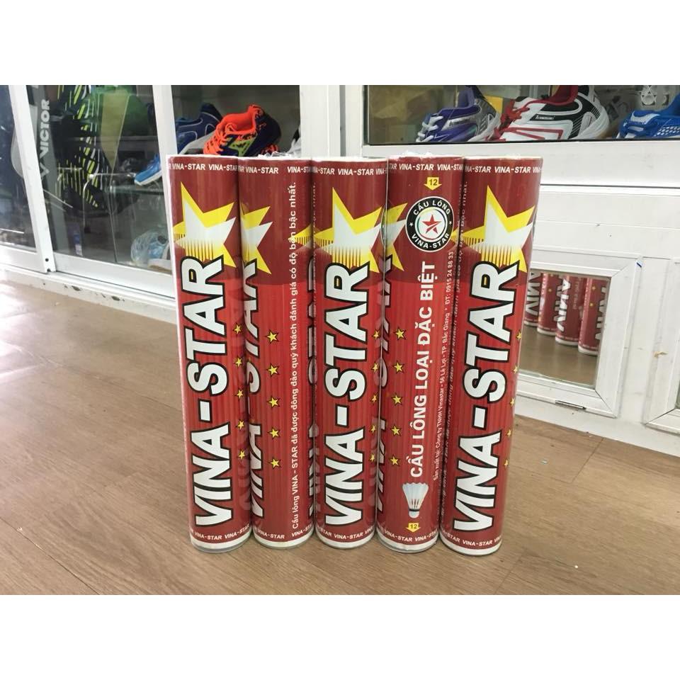 Hộp cầu lông Vinastar Đỏ (12 quả cầu lông) - Hàng phân phối chính thức