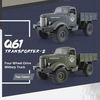 Xe Điều Khiển Quân Sự JJRC Q61 Tỉ lệ 1:16 4WD Truyền Động 4 Bánh