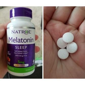 Hình ảnh Kẹo ngậm ngủ ngon Melatonin Natrol 5mg 150 viên, 10mg 90 viên gummies (Date 2020)-3