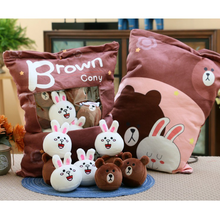 (Order) Gối Pudding Brown Cony