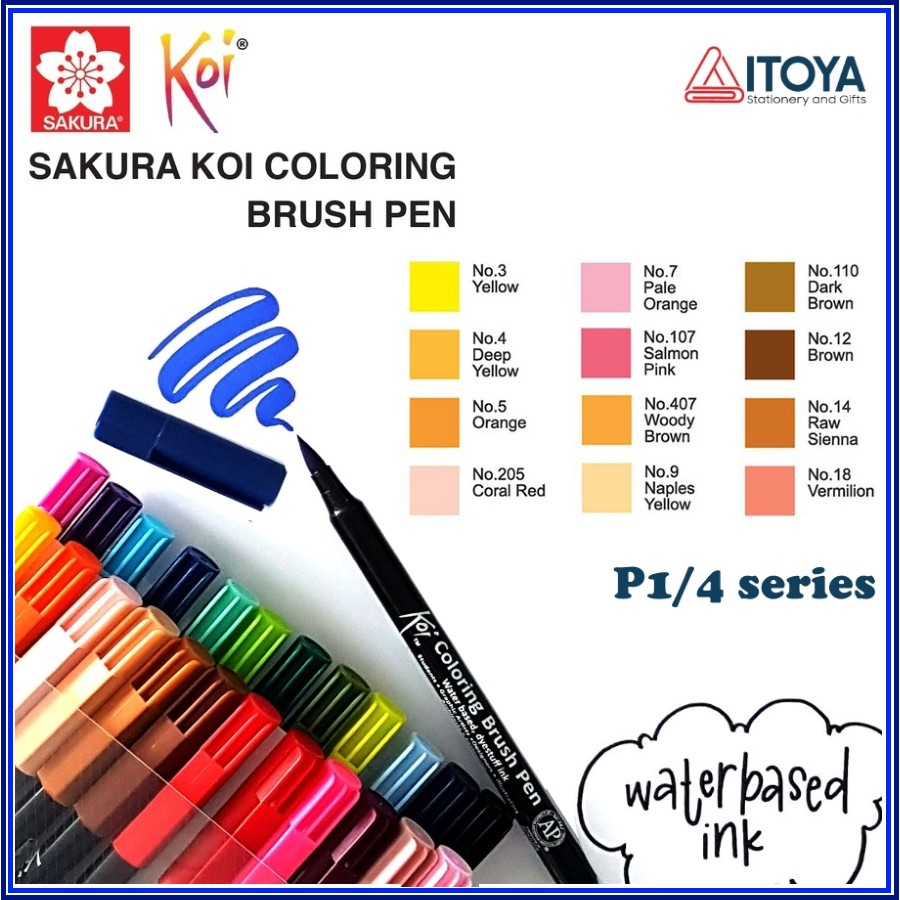 [Mã SKAMA07 giảm 8% tối đa 50K đơn 250K] [P1] Bút Sakura KOI Coloring Brush
