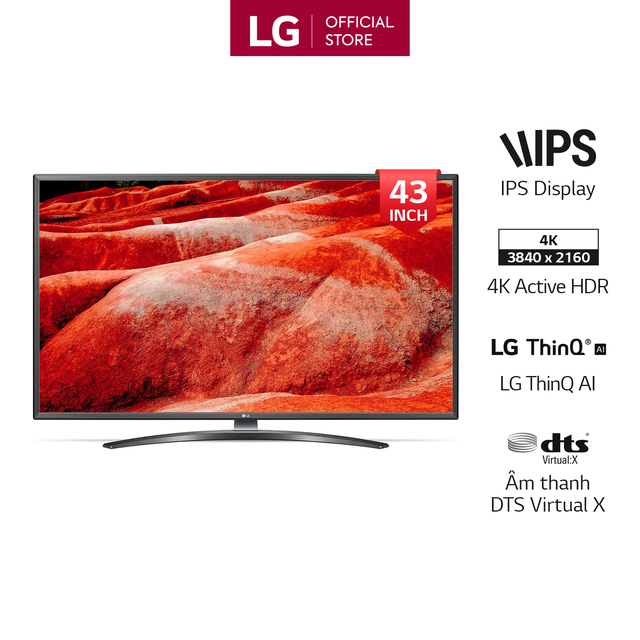Smart Tivi LG 43 Inch UHD 4K 43UM7600PTA Model 2019 - Có Magic Remote (Chính H