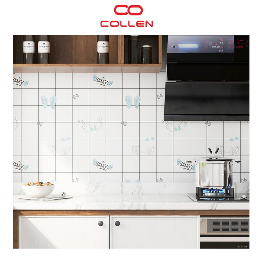 Decal dán tường nhà bếp chịu nhiệt chống dầu mỡ, giấy dán tường trang trí COLLEN LIFE