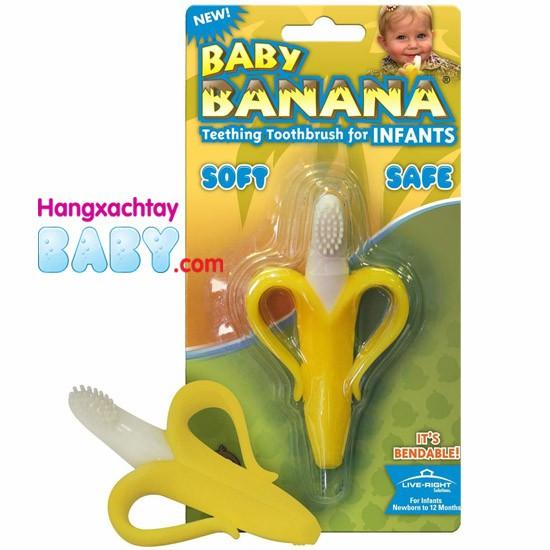Gặm nướu chuối xuất sứ Mỹ, giúp bé từ bỏ thói quen cho tay hoặc đồ vật vào miệng khi bị ngứa lợi, mọc răng