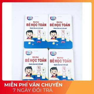 Bộ Thẻ Học Thông Minh Flashcard Bé Học Toán Tư Duy Cho Bé Từ 4 Đến 6 Tuổi Học Số Và Phép Tính Size 10X15 cm