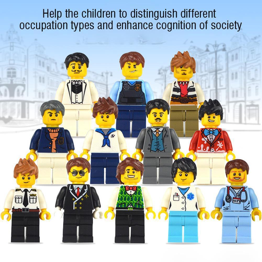 Set 12 Mô Hình Lego Nhân Vật Bác Sĩ Y Tá