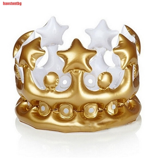 [haostontbg]Kids Inflatable Crown Queen For The Day Toy Novelty Party Favour Nigh