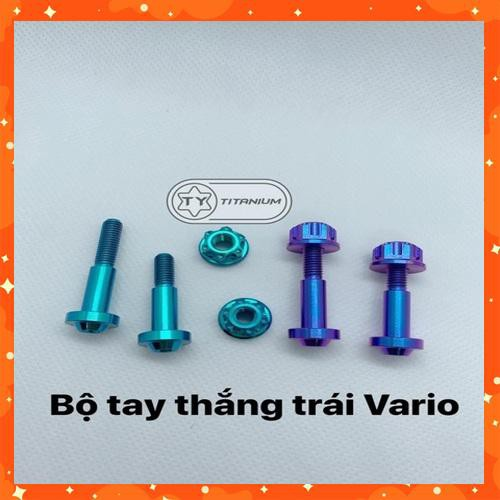 SỐC - BỘ ỐC TITAN TAY THẮNG TRÁI XE VARIO GR5 CLICK NHANH