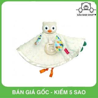 FREE SHIP !!! Set khăn cú mèo ôm ấp và gặm nướu cao cấp BPA Free Infantino 005328 – Hàng chính hãng