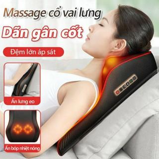 Gối massage 8 bi BENBO Thế hệ 2 mát xa cổ lưng vai gáy toàn thân đa năng cao cấp