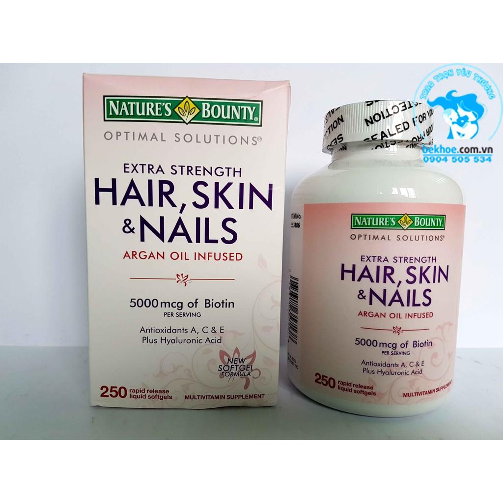 HAIR, SKIN & NAILS - Viên uống cho da, tóc và móng: 250v - của Mỹ - 2568655 , 769888880 , 322_769888880 , 470000 , HAIR-SKIN-NAILS-Vien-uong-cho-da-toc-va-mong-250v-cua-My-322_769888880 , shopee.vn , HAIR, SKIN & NAILS - Viên uống cho da, tóc và móng: 250v - của Mỹ