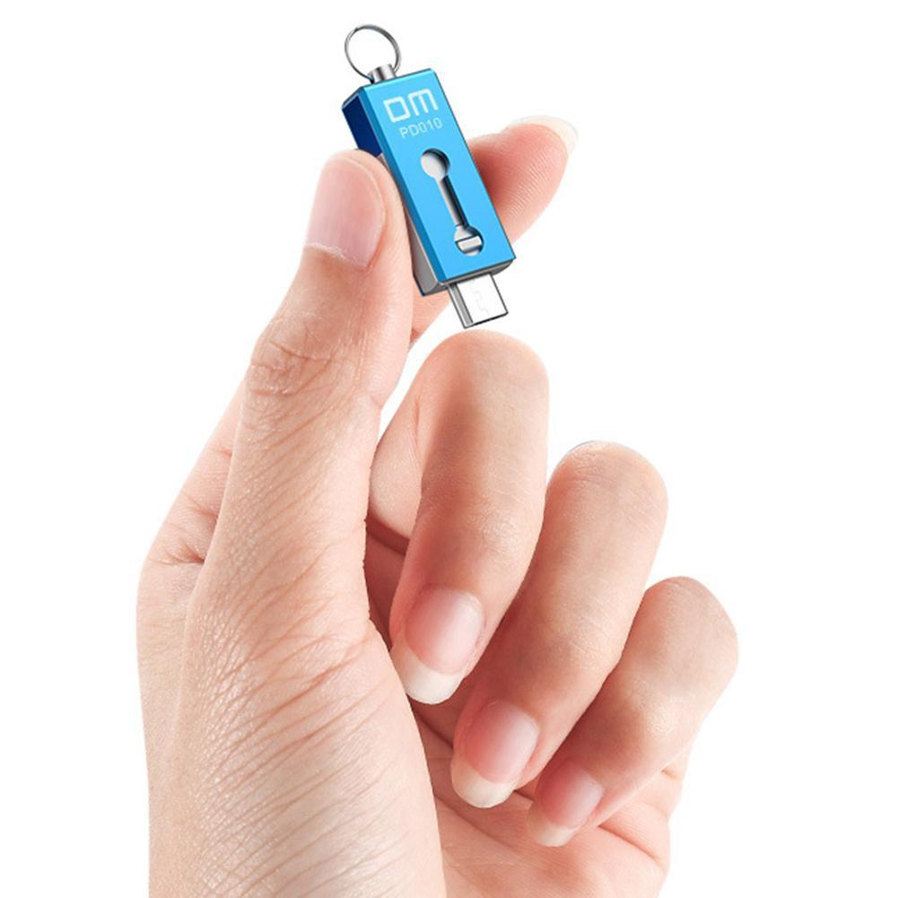 [rem]★DM PD010 Mini USB 2.0 Flash Drive OTG USB Pendrive Waterproof Metal U Disk