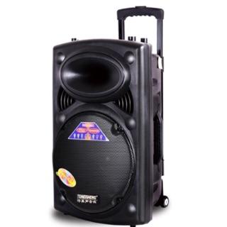 Loa kéo temeisheng LA-012 bass 30cm + 2 mic bluetooth