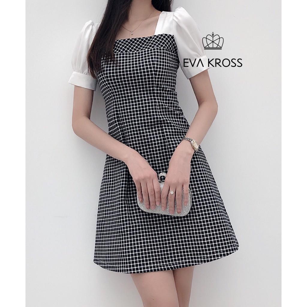 Đầm kẻ caro thiết kế EKS103 - EVA KROSS