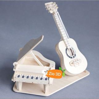 Mô hình lắp ráp gỗ 3D Ghita Piano