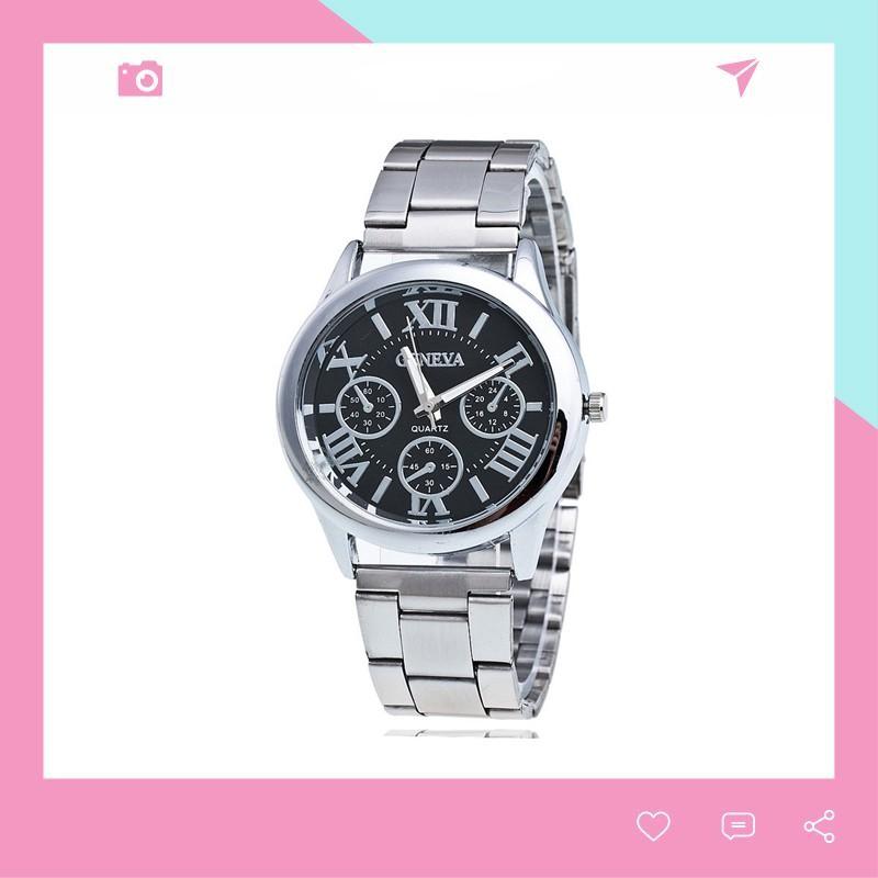 Đồng hồ dây kim loại nam nữ Geneva lịch lãm thời trang DH99