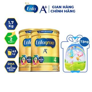 """[Tặng Vali Kéo Cho Bé] Combo 2 Lon Sữa Bột Enfagrow A+ 4 1.7kg (2 Tuổi +) giá chỉ còn <strong class=""""price"""">155.900.000.000đ</strong>"""