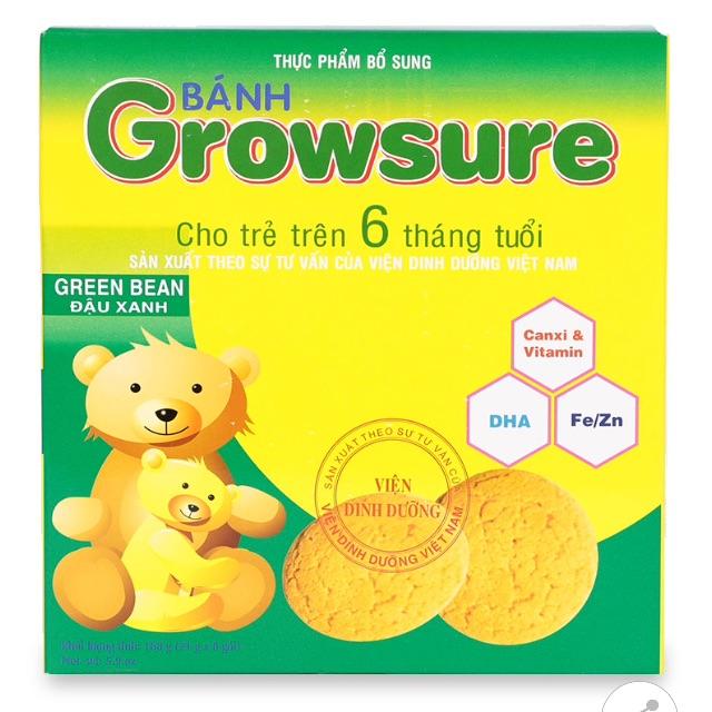 Bánh Growsure 168g cho trẻ 6 tháng tuổi