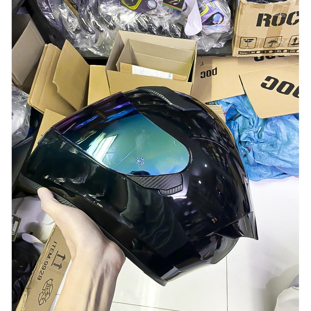 ( Kính Titan ) Nón bảo hiểm ROYAL M138B 1 Kính màu đen bóng kèm túi đựng nón và hộp