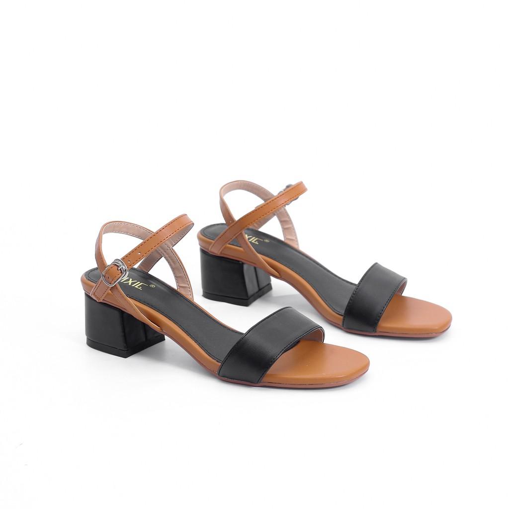 [Nhập mã WS0606 giảm 20% tối đa 50K ] Giày Sandal Cao Gót 5cm Mix Nhiều Màu Pixie X476