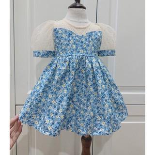 Đầm hoa nhí cho bé gái (từ 6- 35 kg) tặng kèm turban . Váy hoa nhí cho bé hàng thiết kế mẫu mã đẹp 2021 (Mẫu V15)