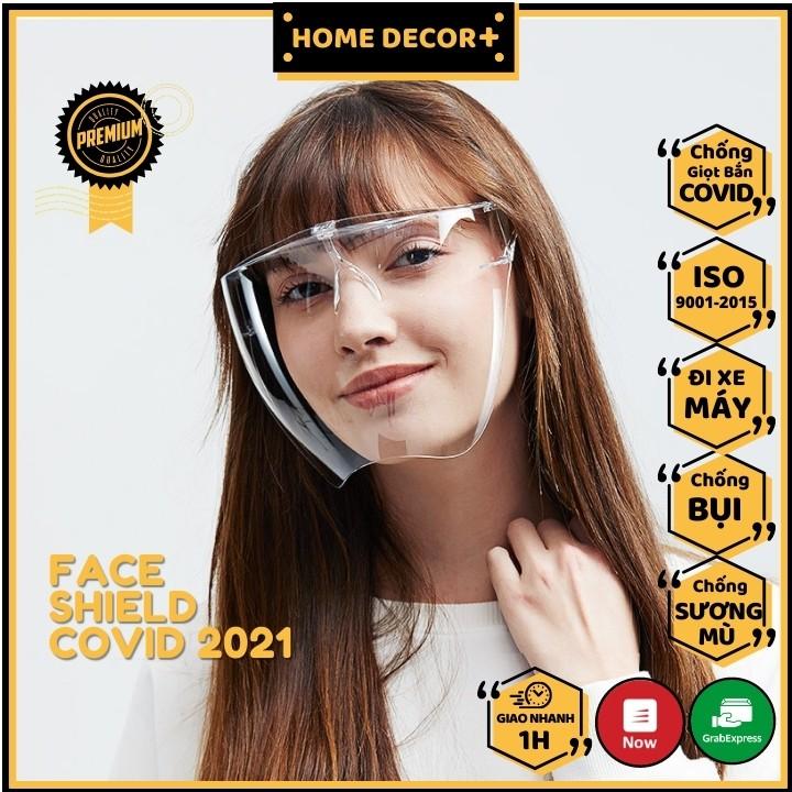 [Giao nhanh 30 phút] Khẩu Trang Trong Suốt Chống Giọt Bắn 2021 Phòng Dịch Face Shield Kháng Khuẩn Kính Bảo Hộ Đa Năng