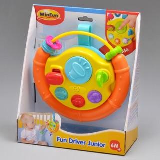 Yêu ThíchĐồ chơi vô lăng treo cũi, xe đẩy - ghế ngồi ô tô cho bé Winfun 0705