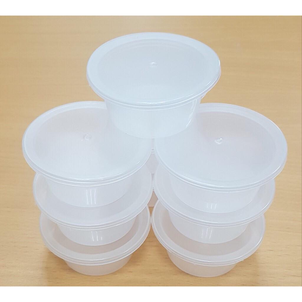 hộp nhựa làm sữa chua, caramen loại 5cm kèm nắp