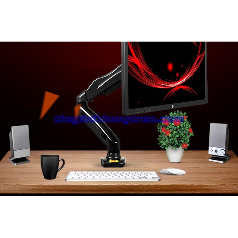 [RẺ VÔ ĐỊCH] Giá treo monitor đa hướng single tay dài NB F-80 Giá chỉ 450.000₫