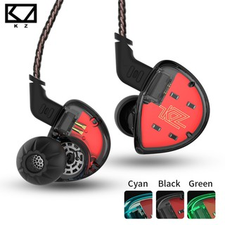 KZ Es4 In-ear Earphone Balanced Armature With Dynamic Driver Noise Cancelling Headset With Mic Kz As10 Zs5 Zs6 Zs10 Ba10