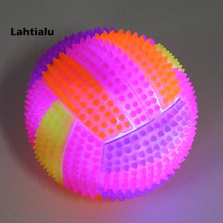 Lahtialu 7.5cm Light-up Toy Sound Massager Volleyball Sports Fitness Body Pain Relief Ball