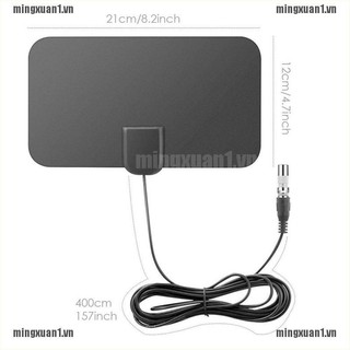 MINONE TV Antenna HDTV Flat HD Digital Indoor Amplified 50-Mile Range TVFox VHF UHF DVB
