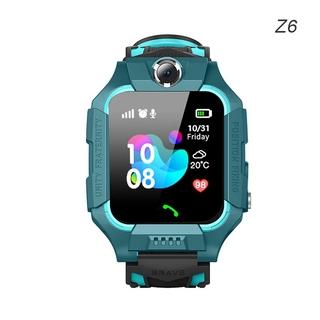 Đồng hồ thông minh trẻ em Z6 Thẻ SIM GPS Tracker SOS Đồng hồ thông minh chống thất lạc cho iOS Android PK Q12 Q50
