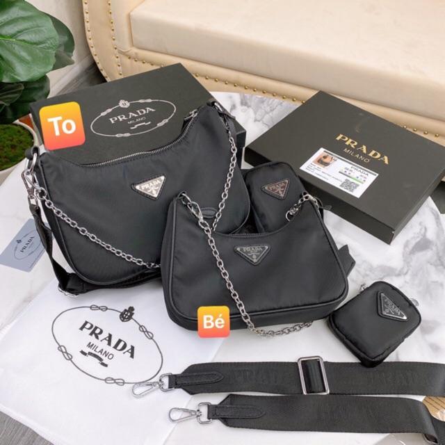 Túi đeo chéo đeo vai vải dù fullbox, ảnh thật, video hàng sẵn