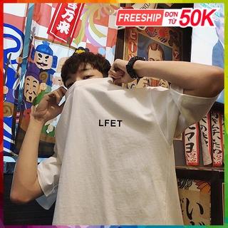 Áo thun nam nữ unisex tay lỡ LF 84, áo phông tay lỡ unisex form rộng oversize streetwear