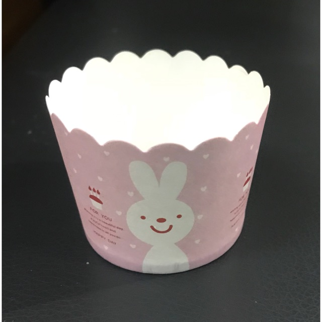 Cup giấy cứng thỏ (for you) 6cm (MS 191)