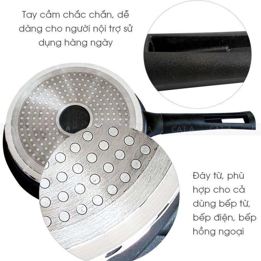 [24cm] Chảo chống dính đáy từ cao cấp Cát Á TFFP-509-24 - Hợp kim nhôm Có nắp đậy, tiện lợi, nhỏ gọn, độ bền cao, giá rẻ