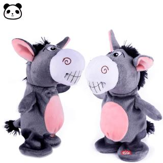 Cute Electric Voice Recording Donkey Can Speak Talk Interactive Plush Toy
