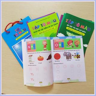 [Giảm Giá Sốc] Combo 8 quyển Tập tô màu nhiều chủ đề cho bé