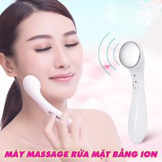 Máy rung massage rửa mặt- Máy ion mát xa mặt điện di