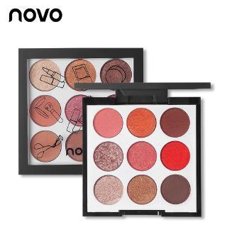 Bảng phấn mắt NOVO 9 màu nhũ kim tuyến và lì lâu trôi thời trang