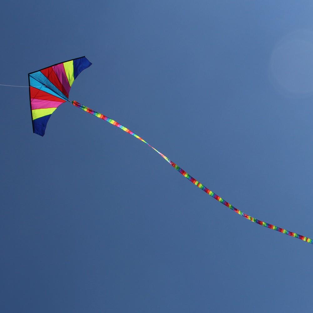 COD 10 Meters Rainbow Bar Kite Tail for Delta Kite Stunt Kite Kite Accessory